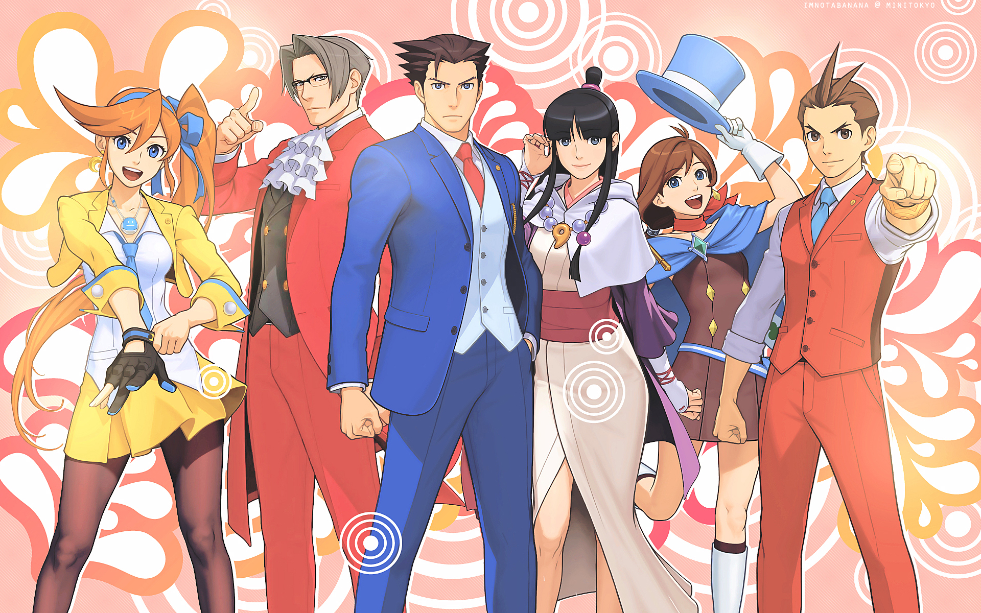 Ace Attorney Wallpaper And Scan Gallery Minitokyo