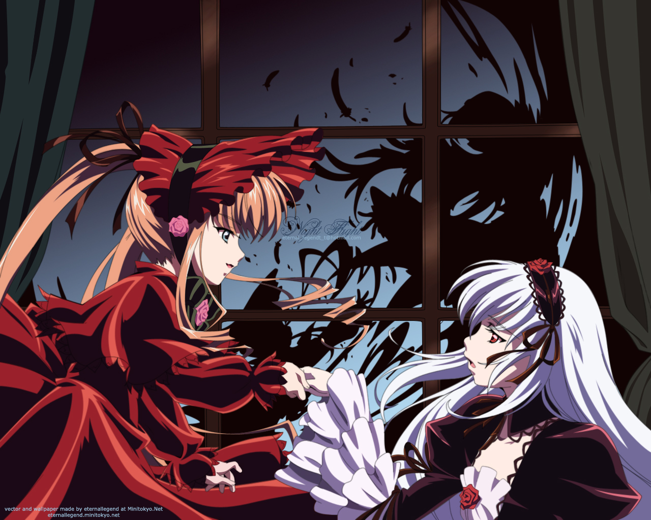 Rozen Maiden Wallpaper Night Flight Minitokyo