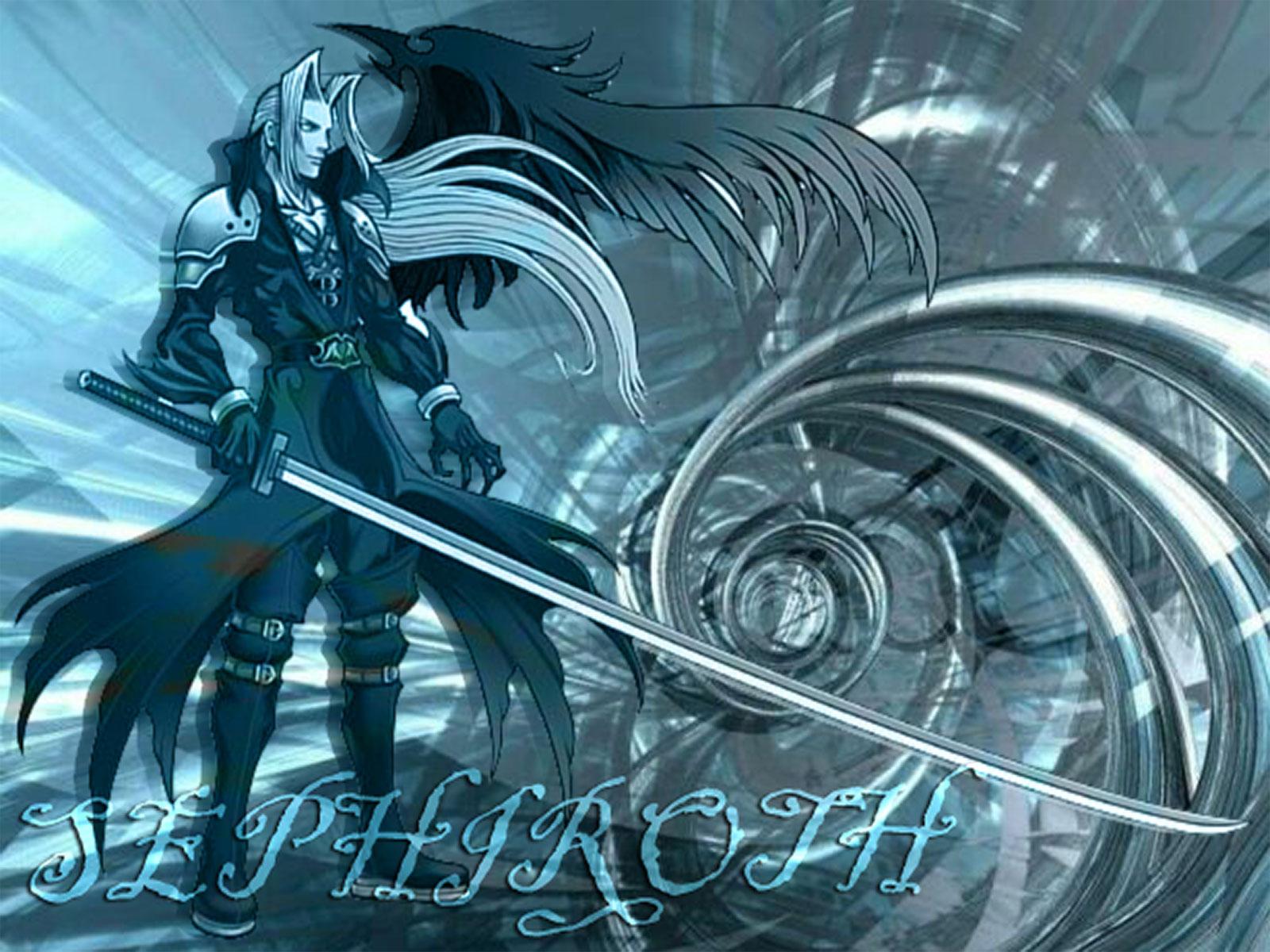 Final Fantasy Vii Wallpaper Sephiroth In Blue Minitokyo