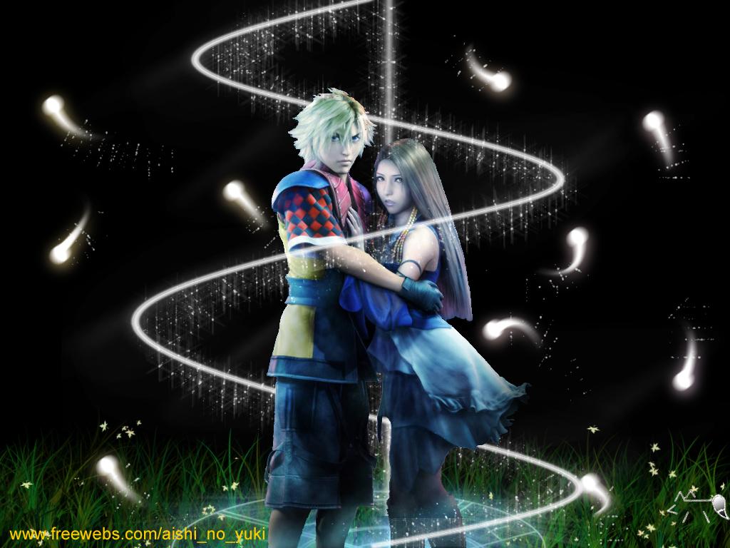 Final Fantasy Lenne And Shuyin Final Fantasy X-2 Wall...