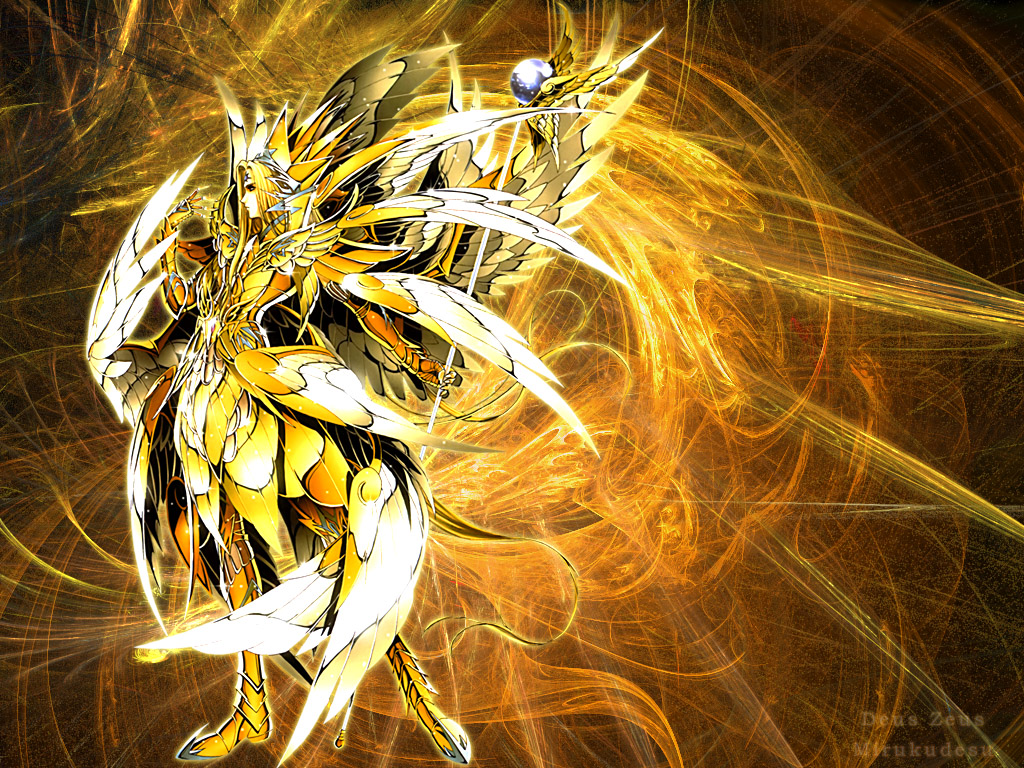 saint seiya wallpaper  deus zeus