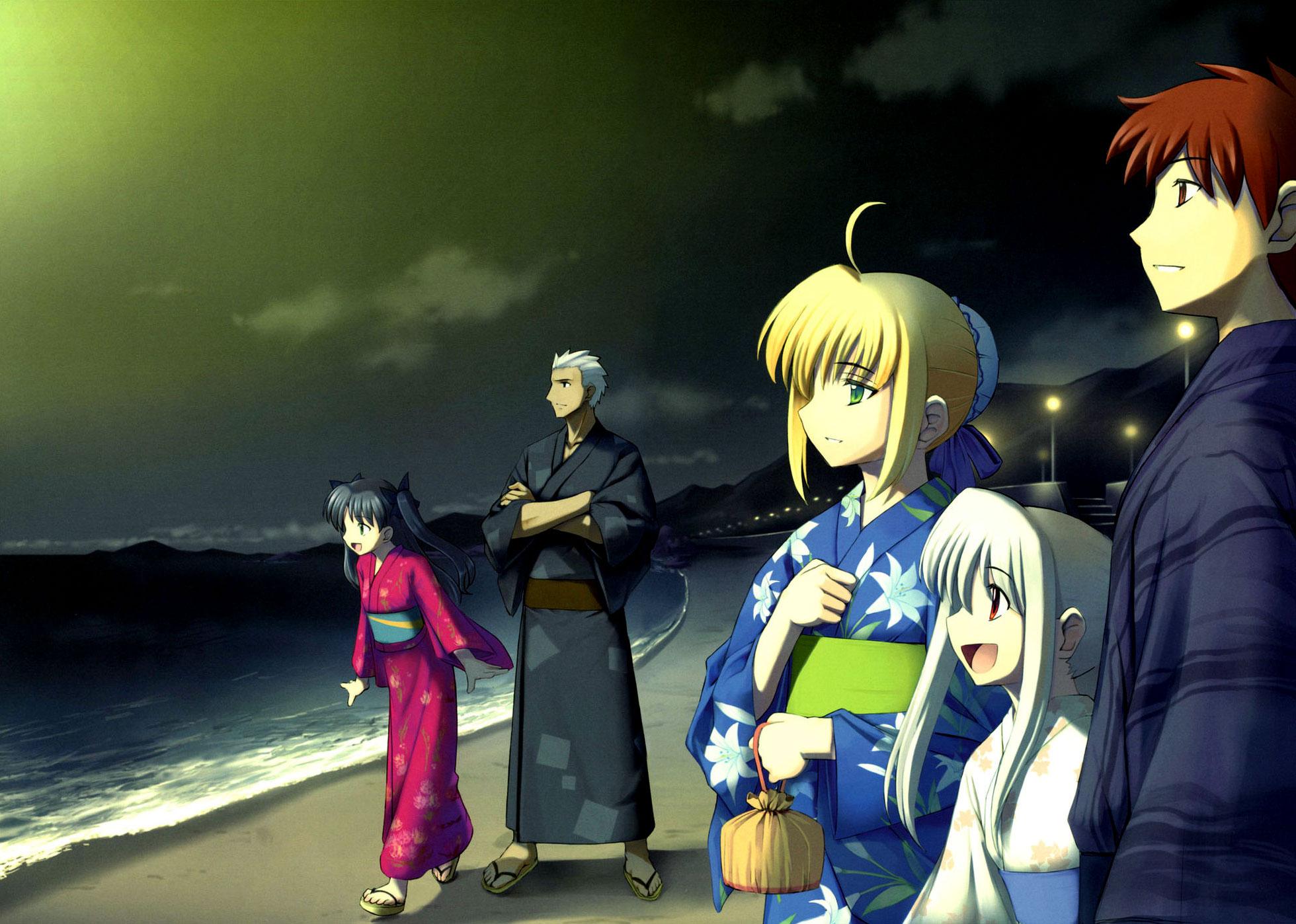Fate Stay Night Beach Group Minitokyo