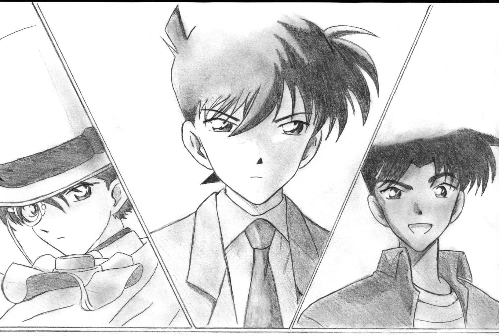 Detective conan shinichi kudou heiji hattori kaito kuroba member