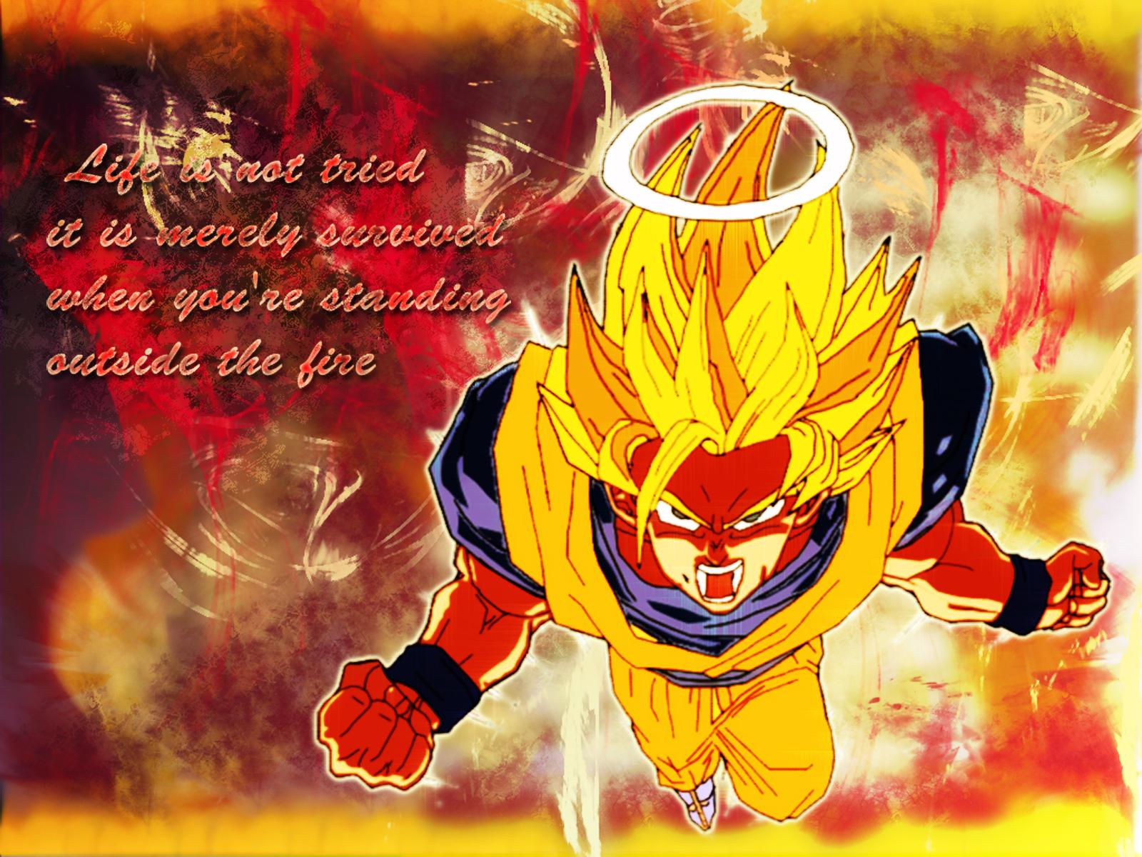Dragon Ball Wallpaper: UA #4- Saiyan Fire - Minitokyo