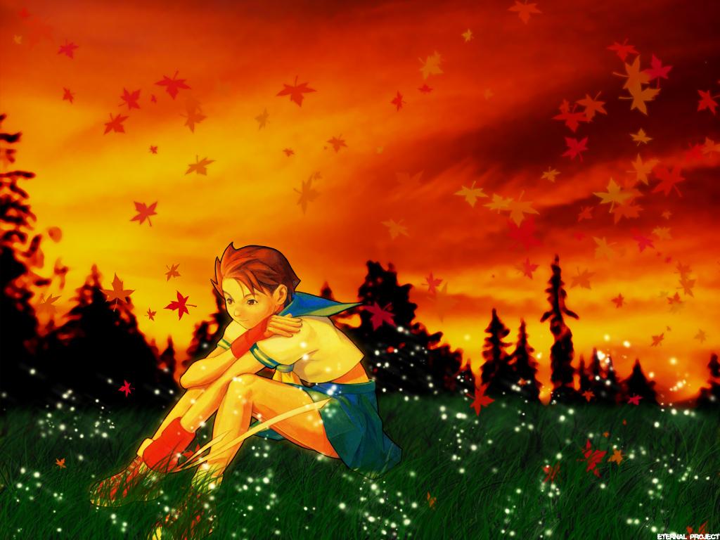 Street Fighter Wallpaper Autumn Sakura Minitokyo