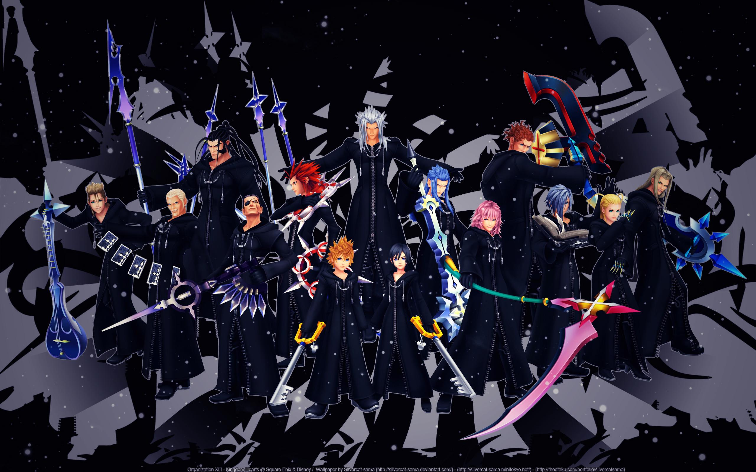 Kingdom Hearts Wallpaper: Organization XIII - Minitokyo Kingdom Hearts Organization 13 Wallpaper
