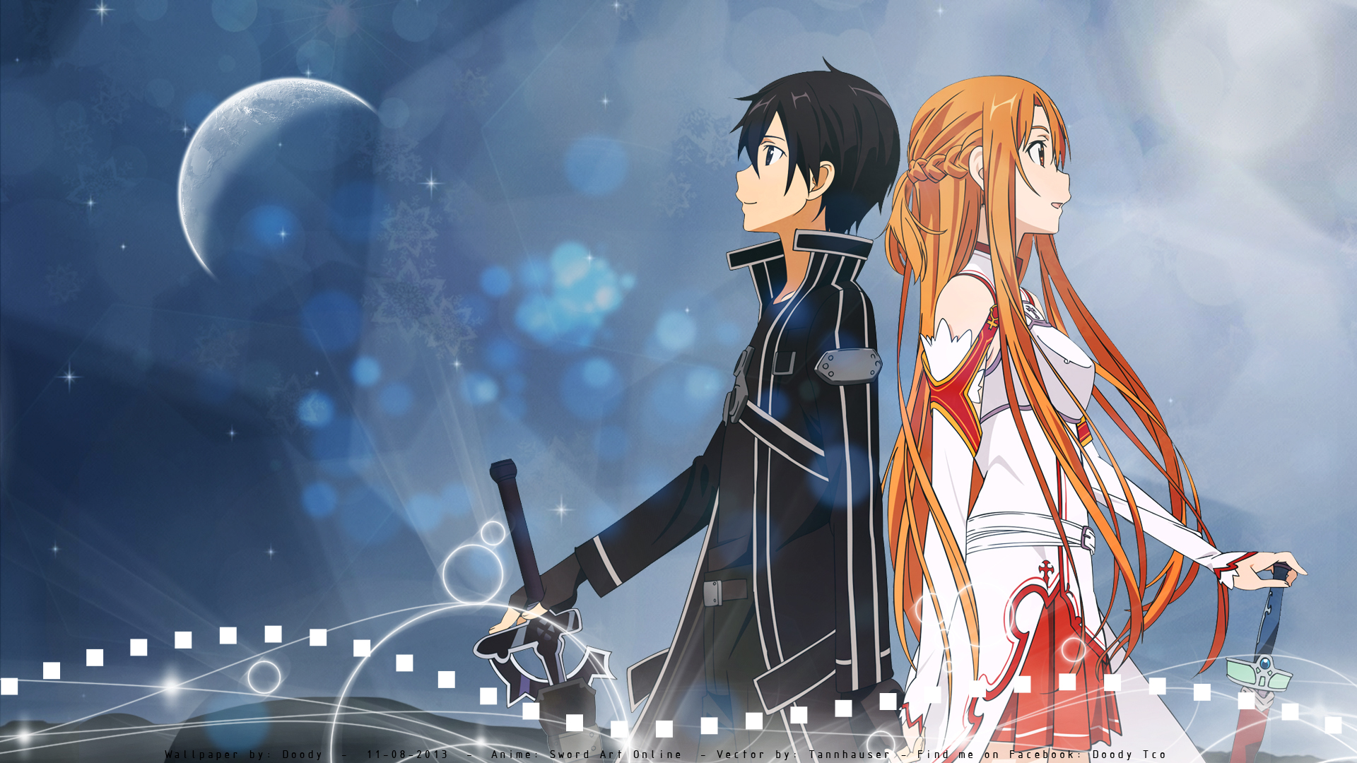 anime girls simple background Sword Art Online sword anime