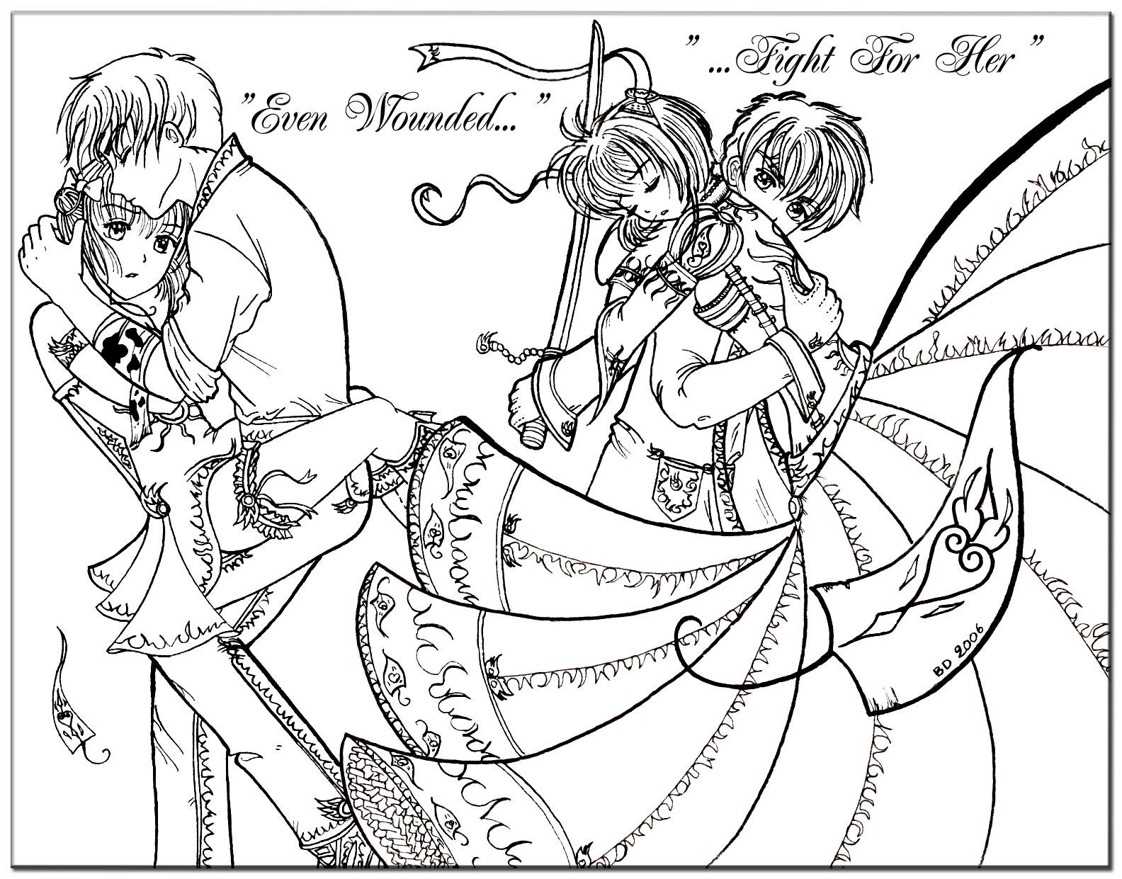 coloring pages tsubasa-#42