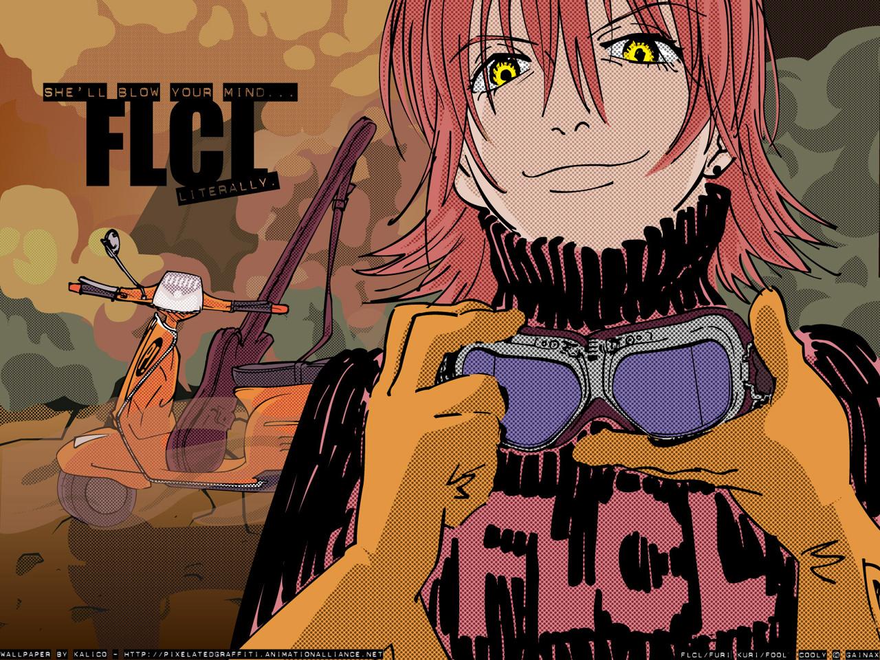 Flcl wallpaper she 39 ll blow your mind literally minitokyo - Flcl haruko haruhara ...