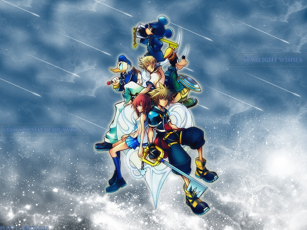Kingdom Hearts Wallpaper Starlight Wishes Minitokyo