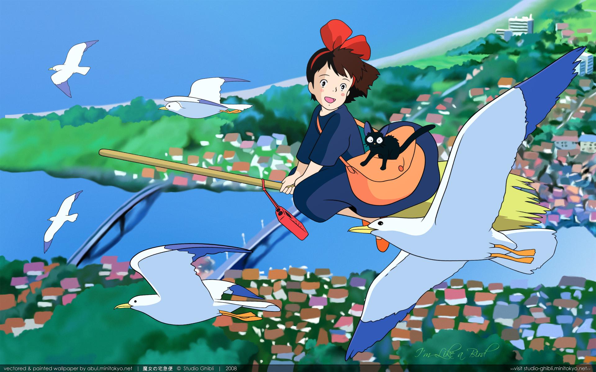Kiki's Delivery Service Wallpaper: I'm Like A Bird - Minitokyo