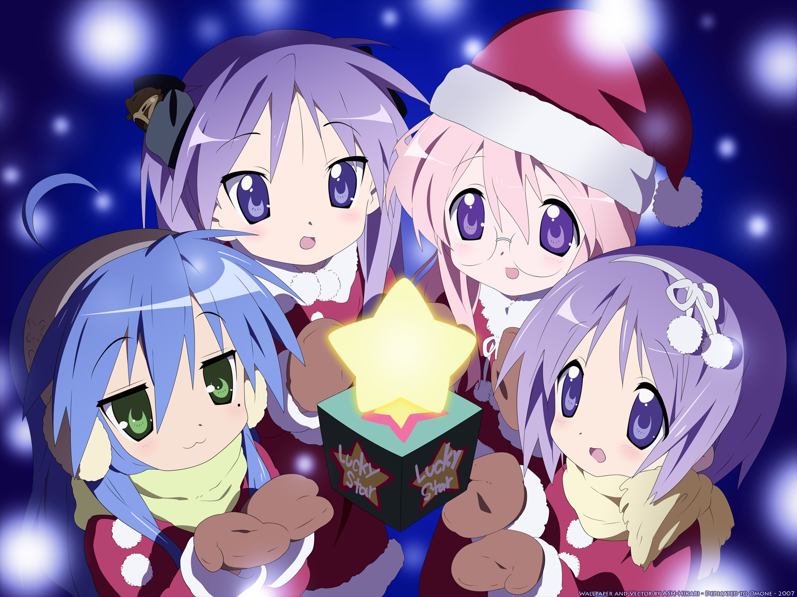lucky star - wallpaper and scan gallery - minitokyo