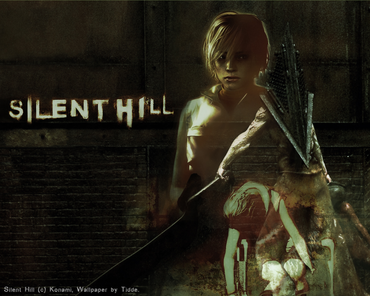 silent hill 2 pyramid head wallpaper