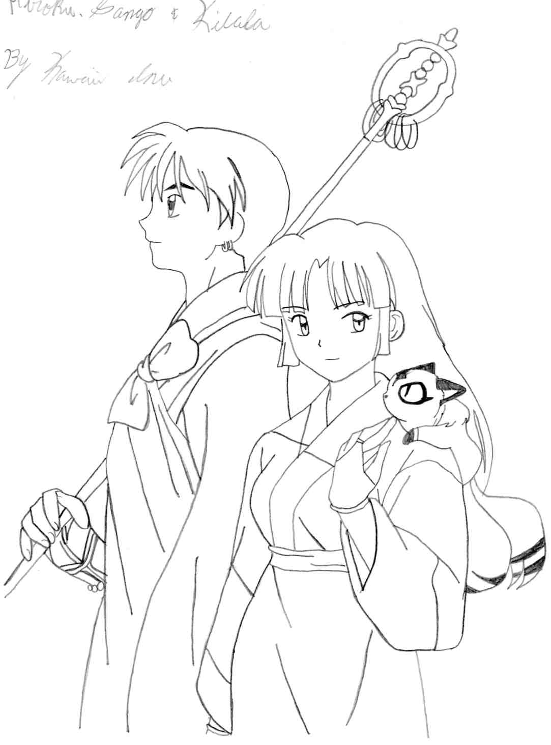 coloring book pages of kirara - photo#27