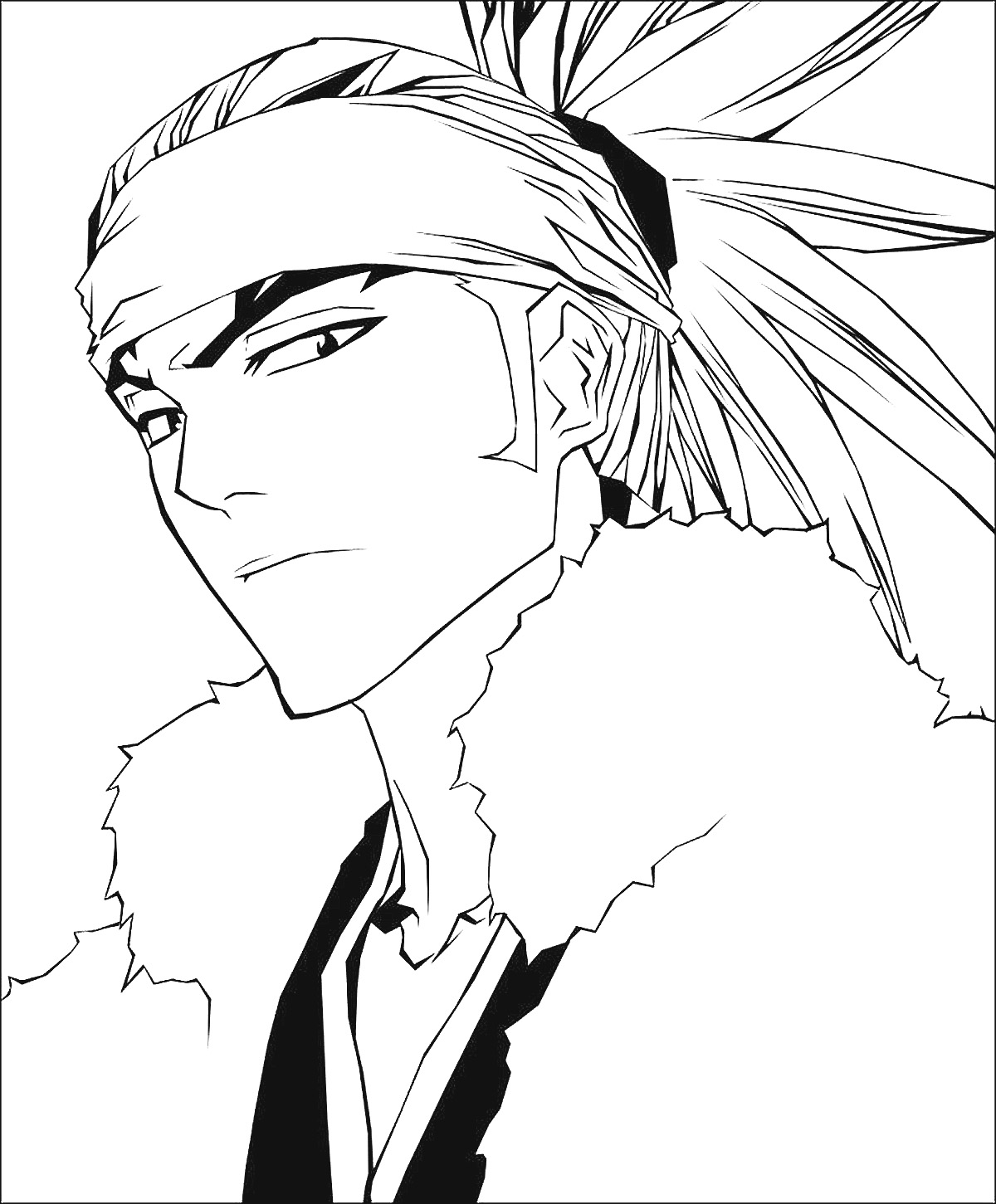 Bleach renji lines minitokyo for Bleach color pages