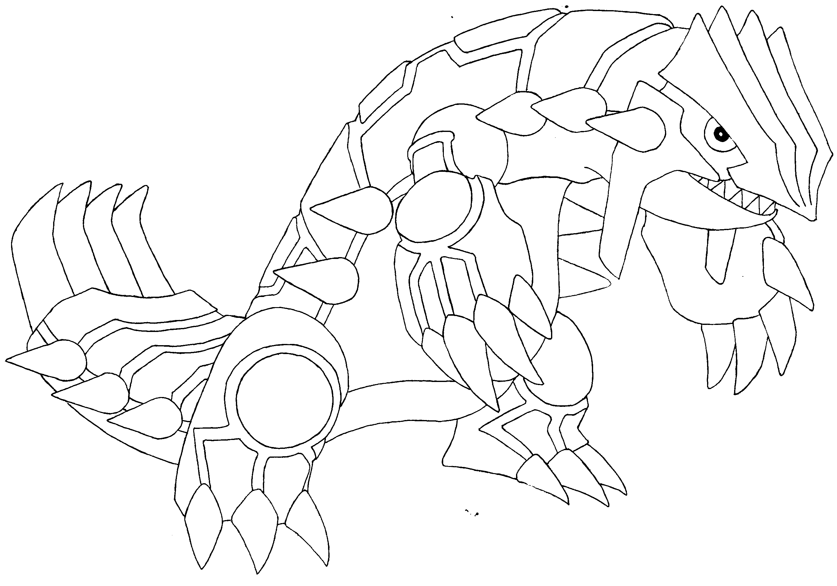 Pokemon groudon pictures for Primal groudon coloring page