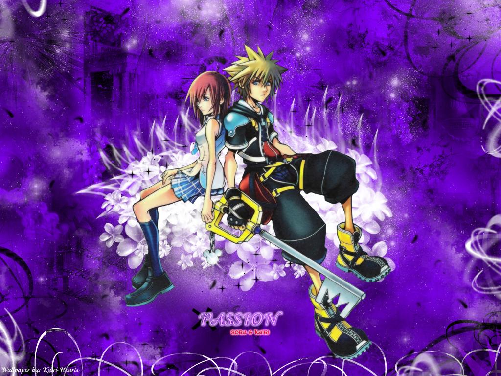 Kingdom Hearts Wallpaper: ..::PASSION - Sora & Kairi ...