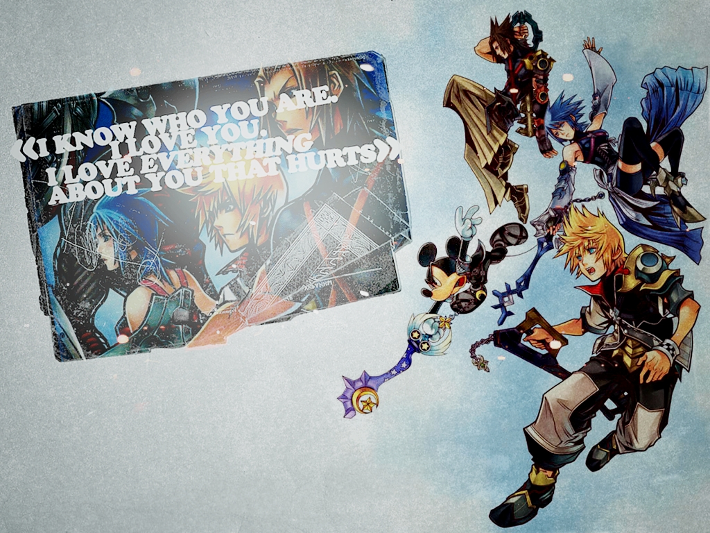 Kingdom Hearts Wallpaper I Love Everything About You That Hurts