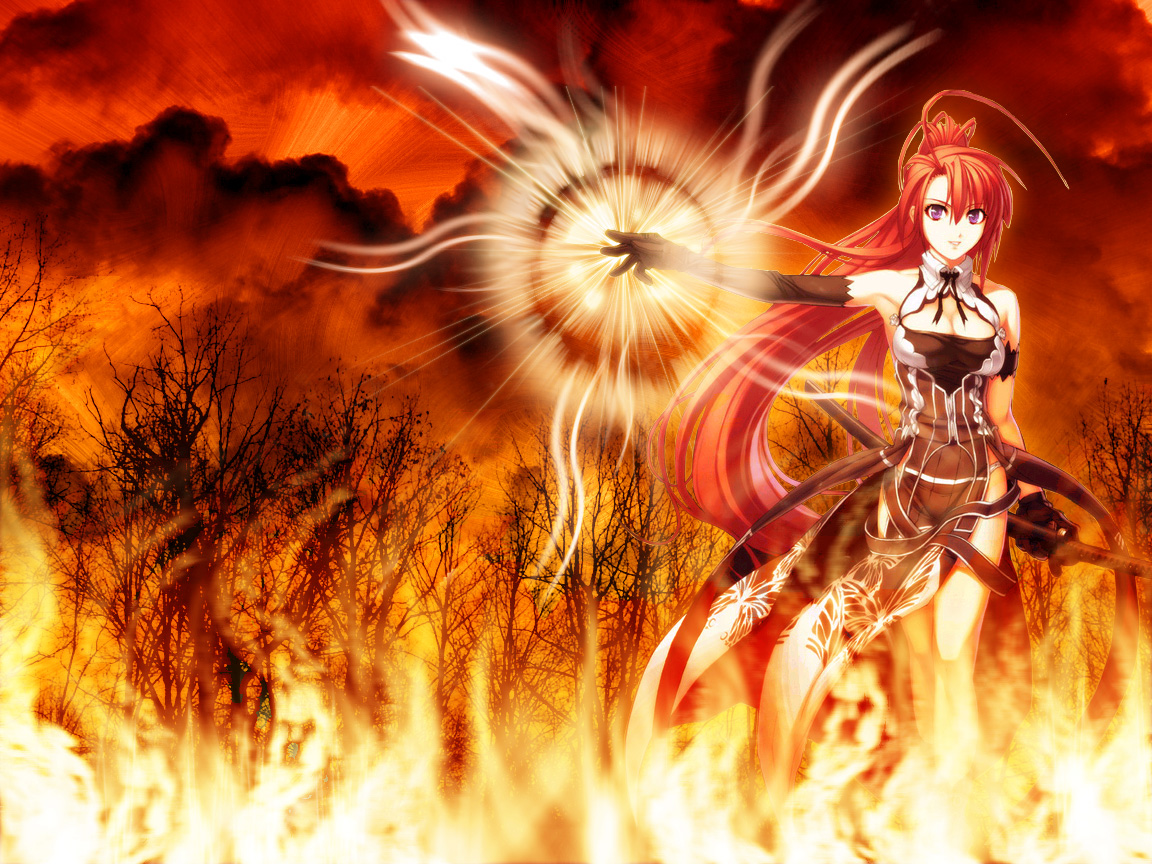 Jingai Makyo Wallpaper: The fire girl - Minitokyo