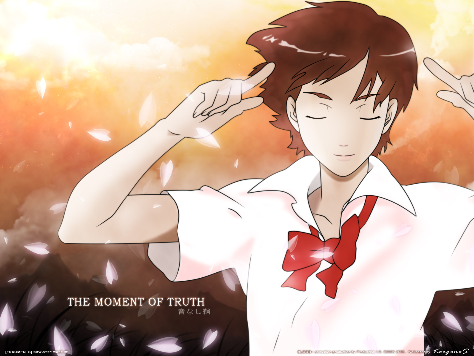 blood  wallpaper  saya   the moment of truth
