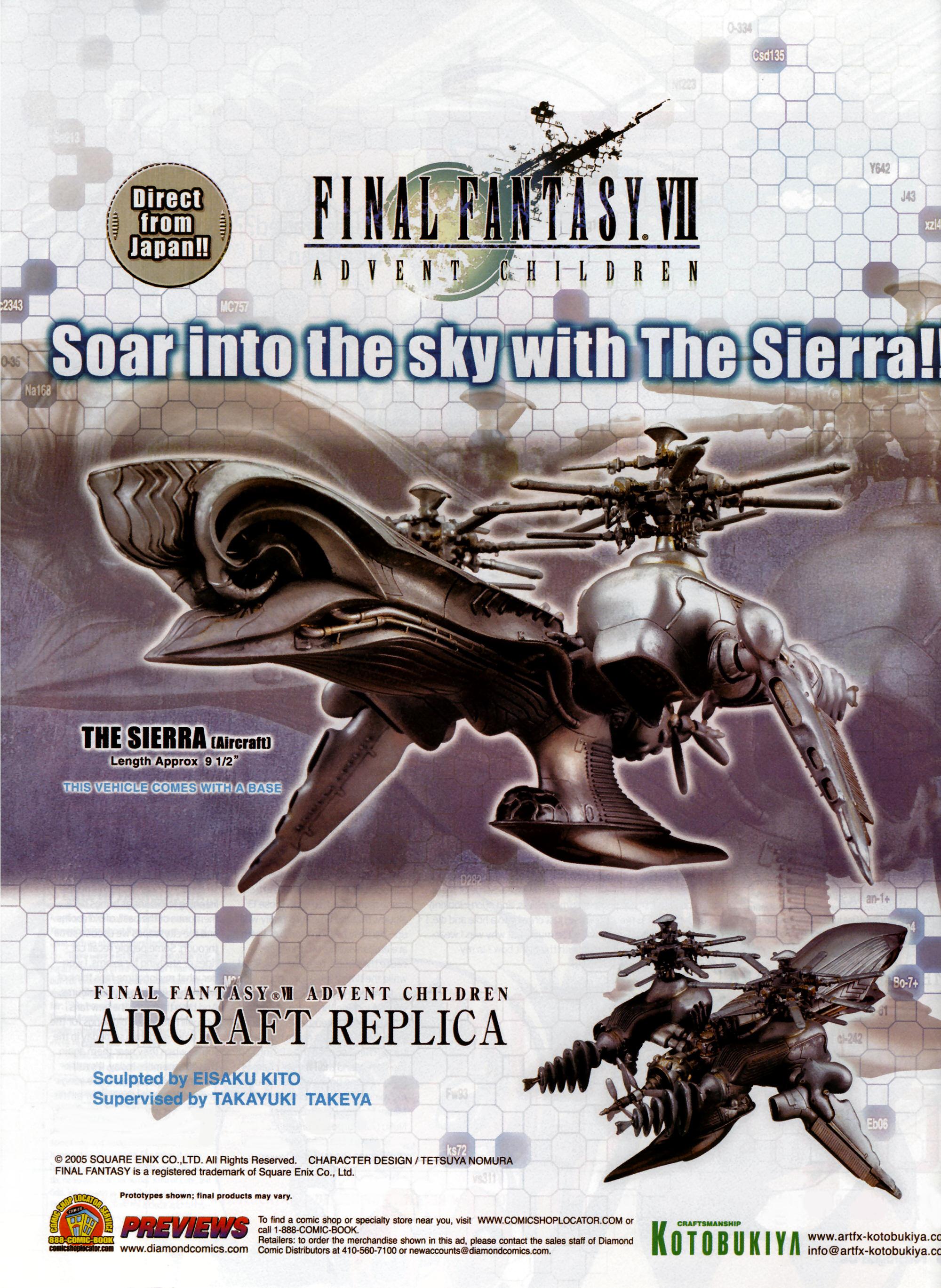 : Advent Children: Final Fantasy VII - Advent Children - Sierra model