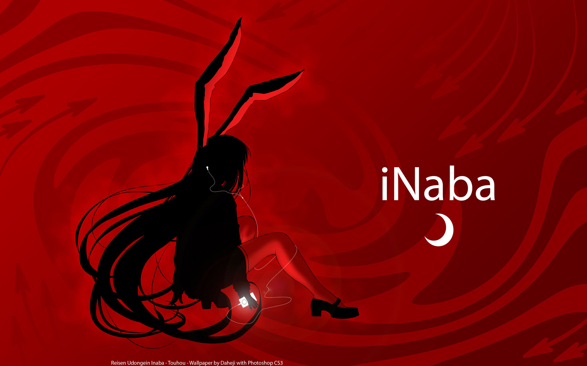 Reisen udongein inaba smiling open mouth bunny wallpaper