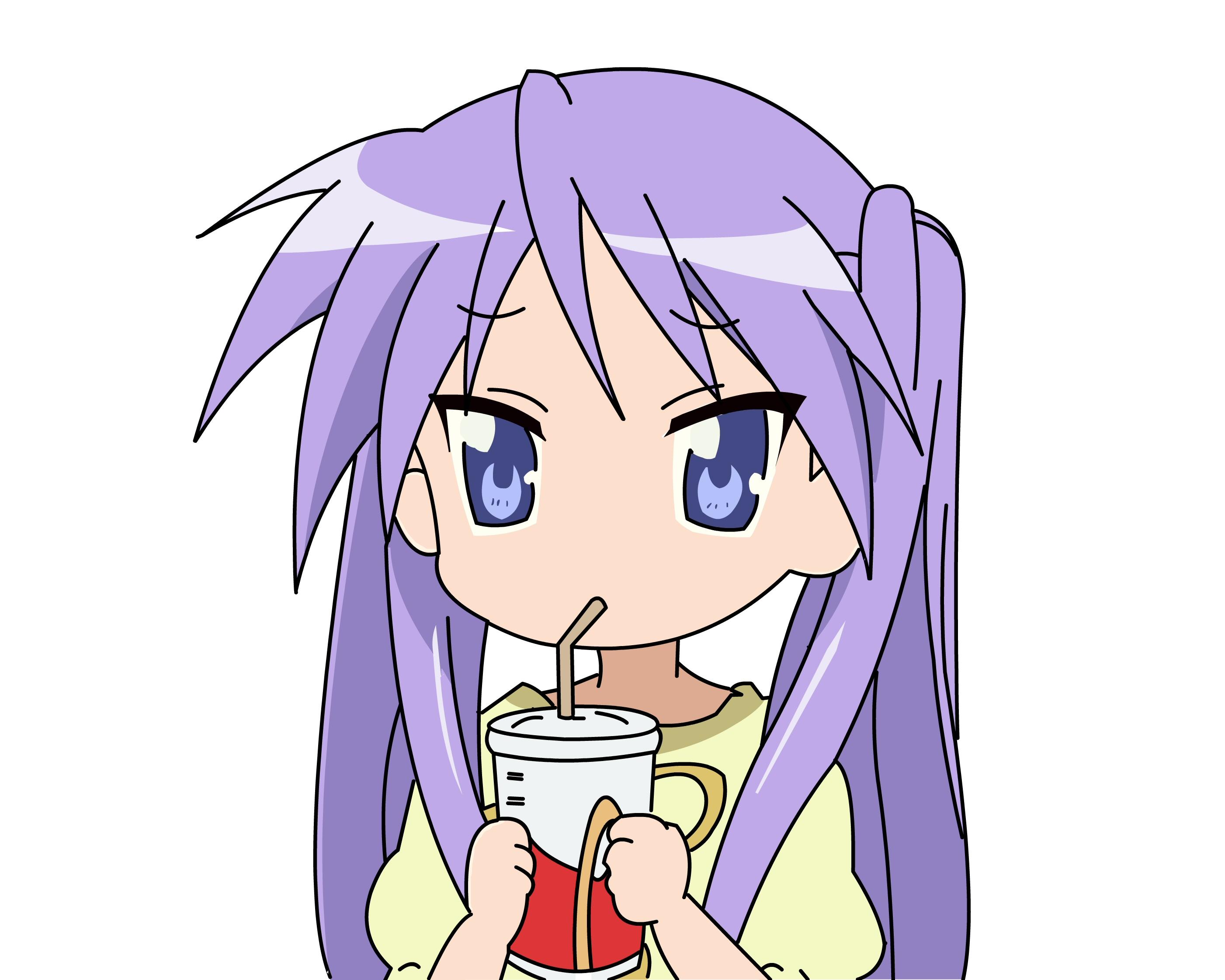 Lucky Star: Kagami chug-a-lug - Minitokyo