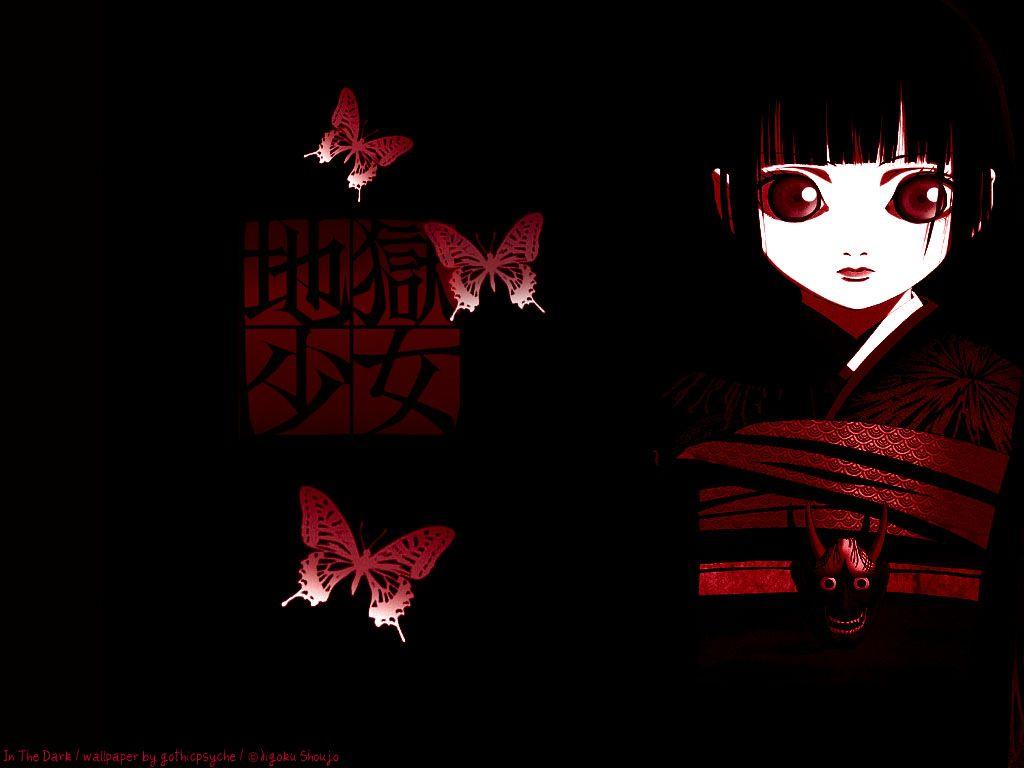 jigoku shoujo wallpaper in the dark minitokyo