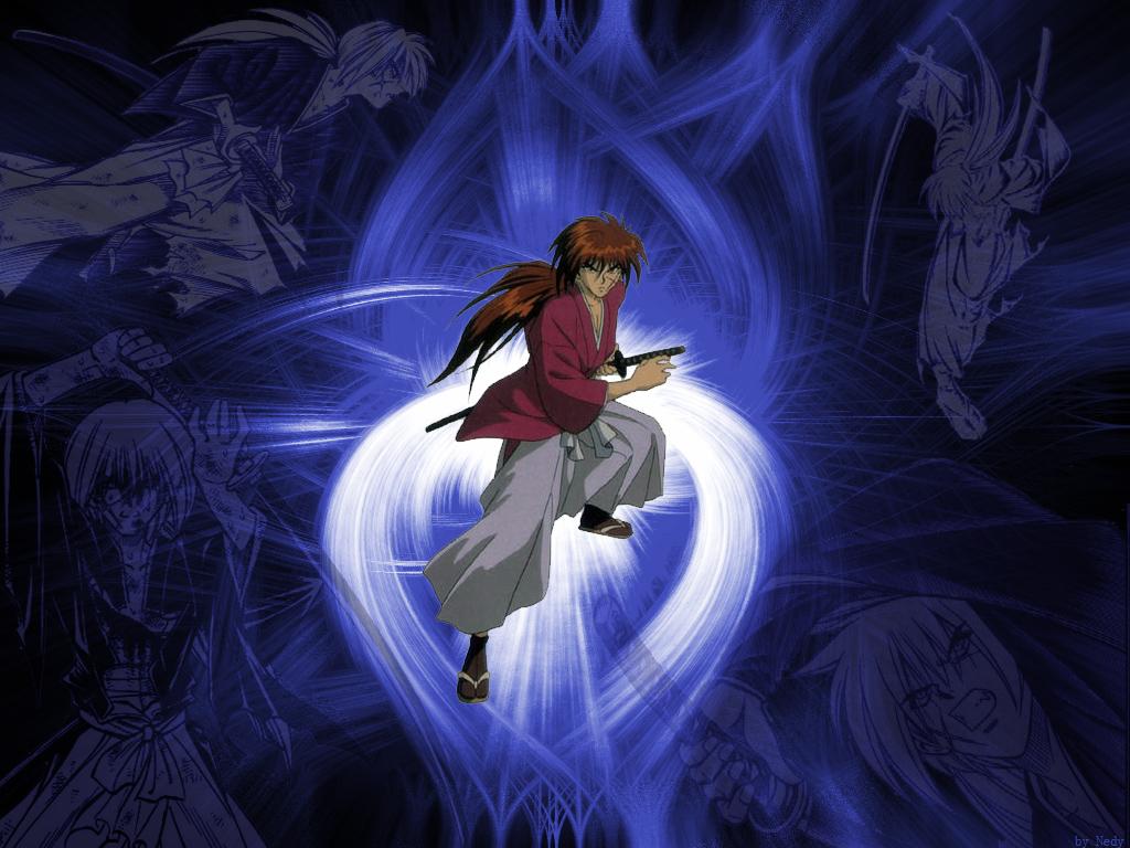 Rurouni Kenshin Wallpaper: Blue Kenshin - Minitokyo
