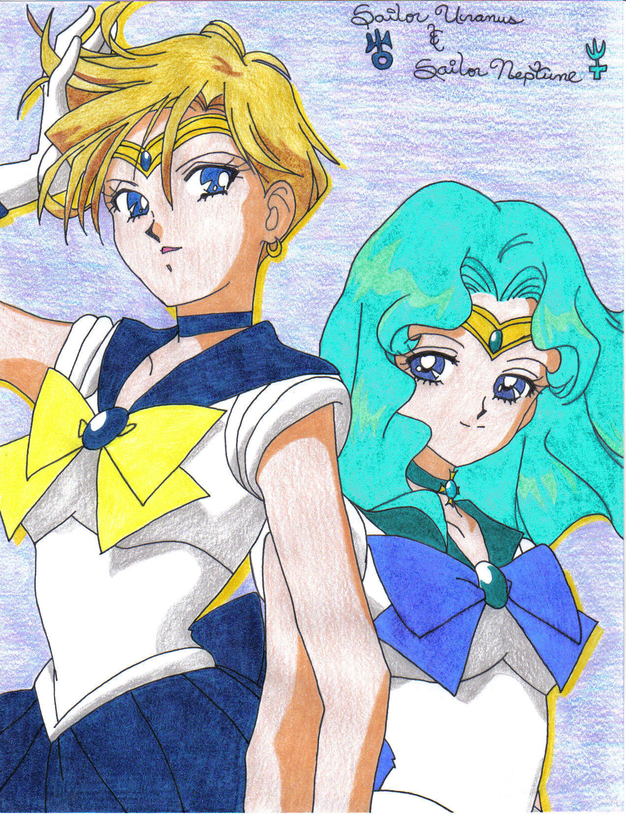 Sailor Moon Uranus and Neptune - Pics about space