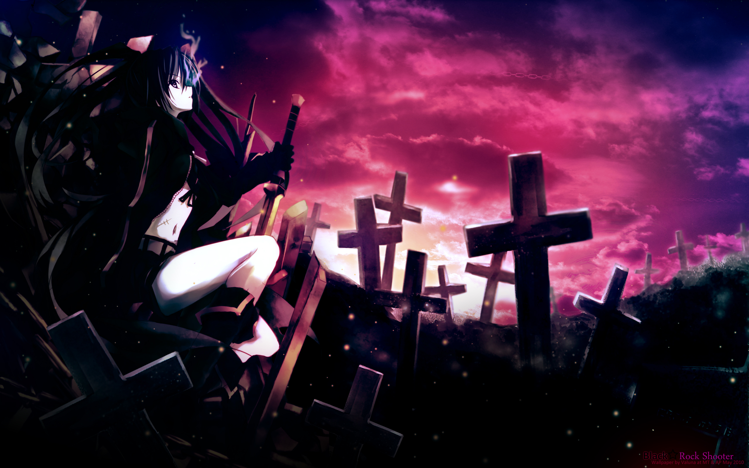 black rock shooter - wallpaper and scan gallery - minitokyo