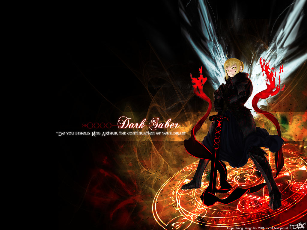 Fate Hollow Ataraxia Wallpaper Darkest Saber Minitokyo