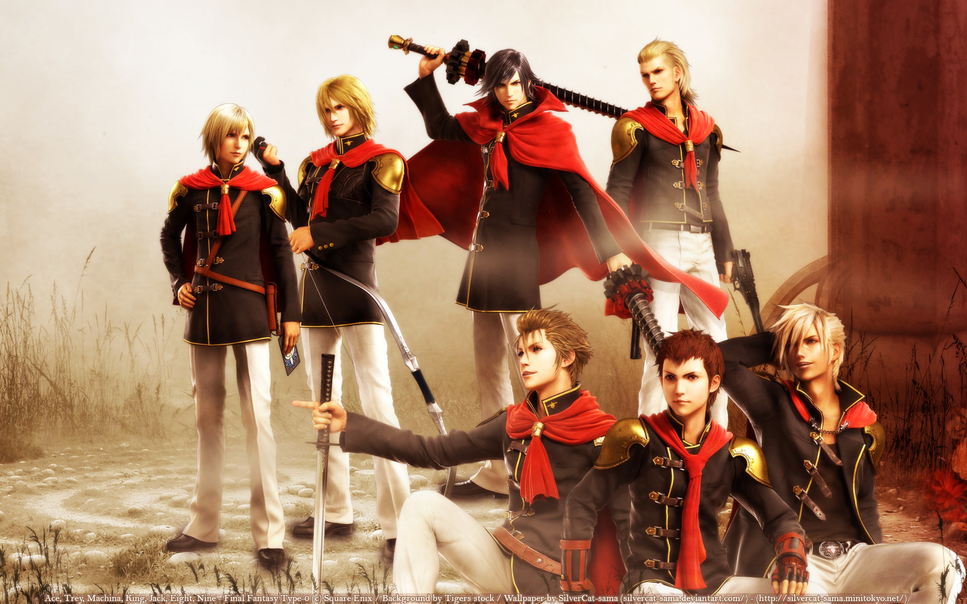Final Fantasy Type 0 Wallpaper And Scan Gallery Minitokyo
