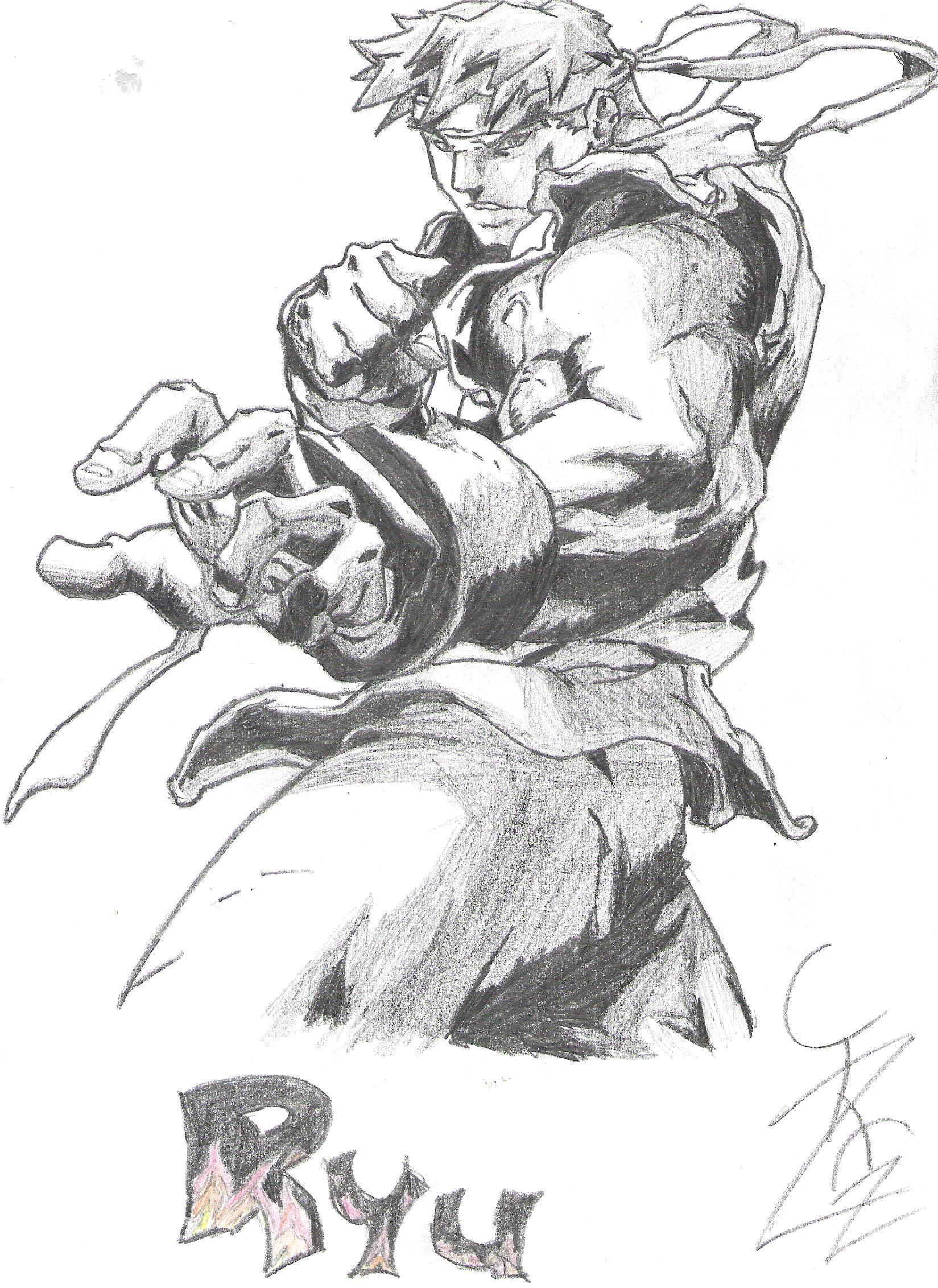 Street Fighter Ryu Drawing Minitokyo
