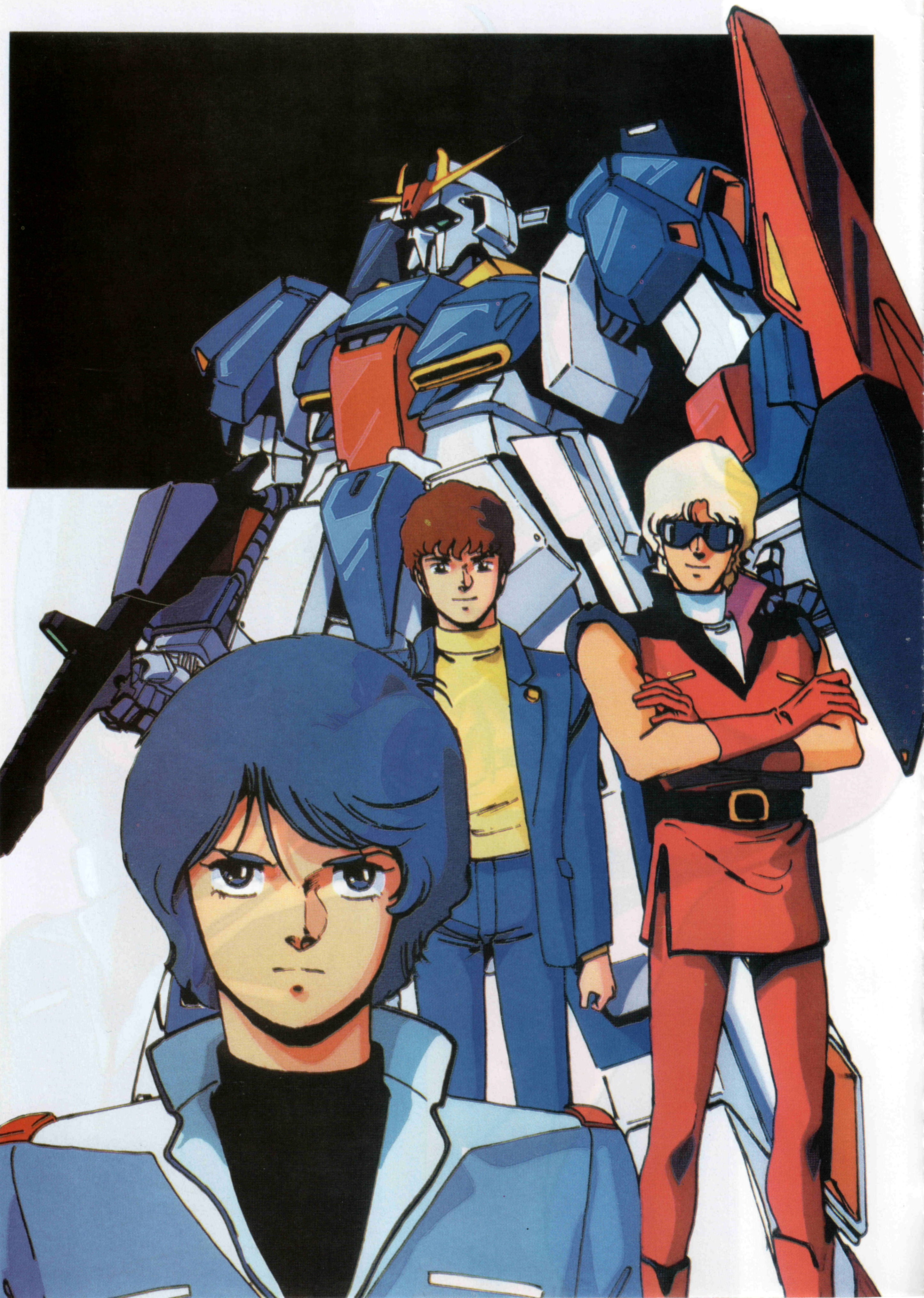 Mobile Suit Zeta Gundam (Char Aznable, Kamille Bidan, Amuro