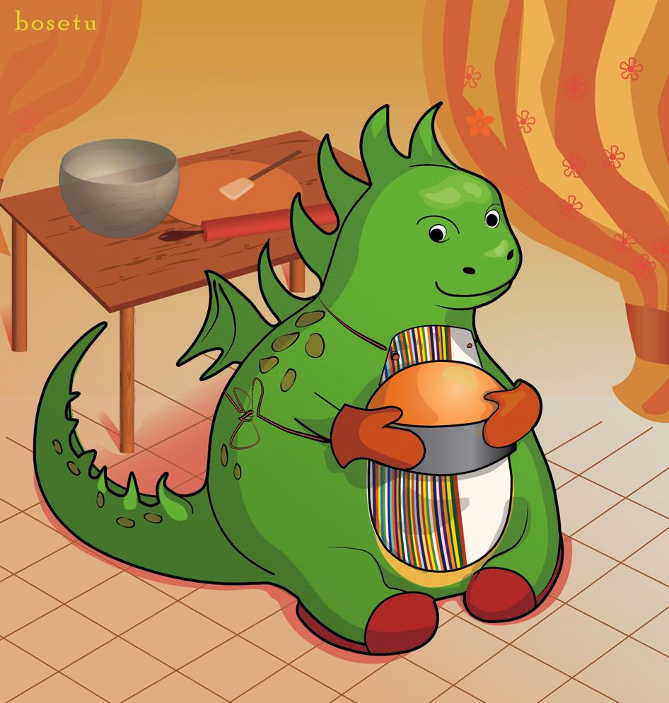 Original Dragon At The Kitchen Minitokyo
