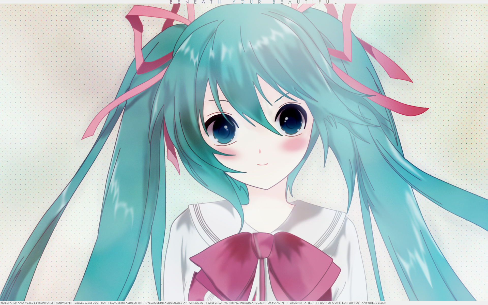 Vocaloid Wallpaper: Beneath Your Beautiful - Minitokyo