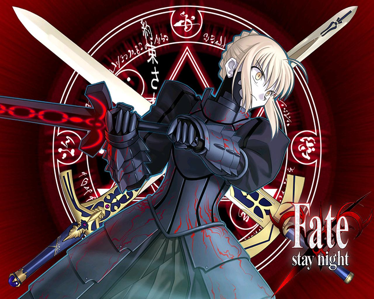 Fate/stay night Wallpaper: Evil Saber - Minitokyo