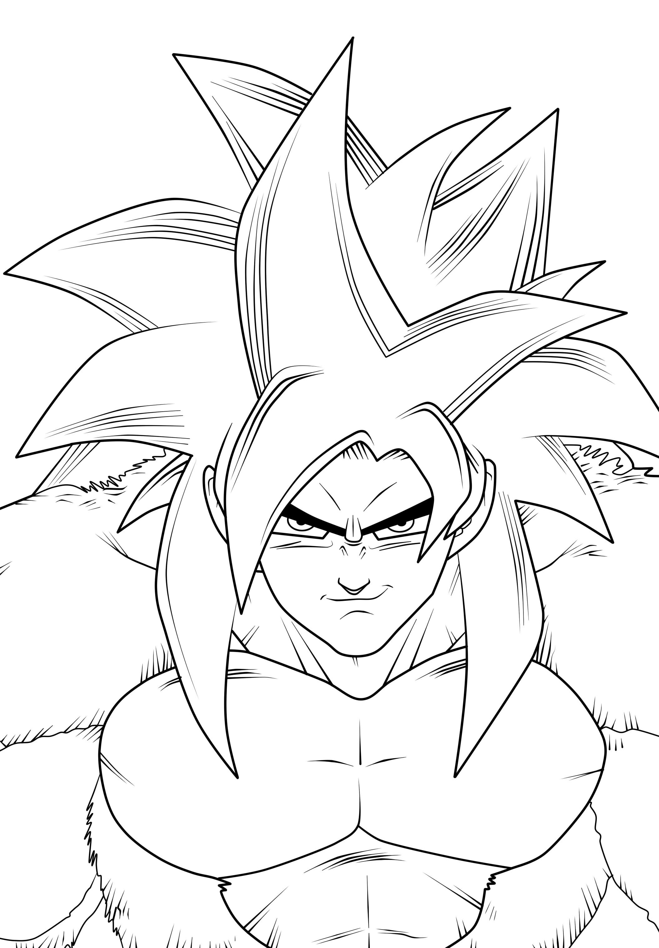 Dragon Ball Goku Ssj4 Lineart Minitokyo