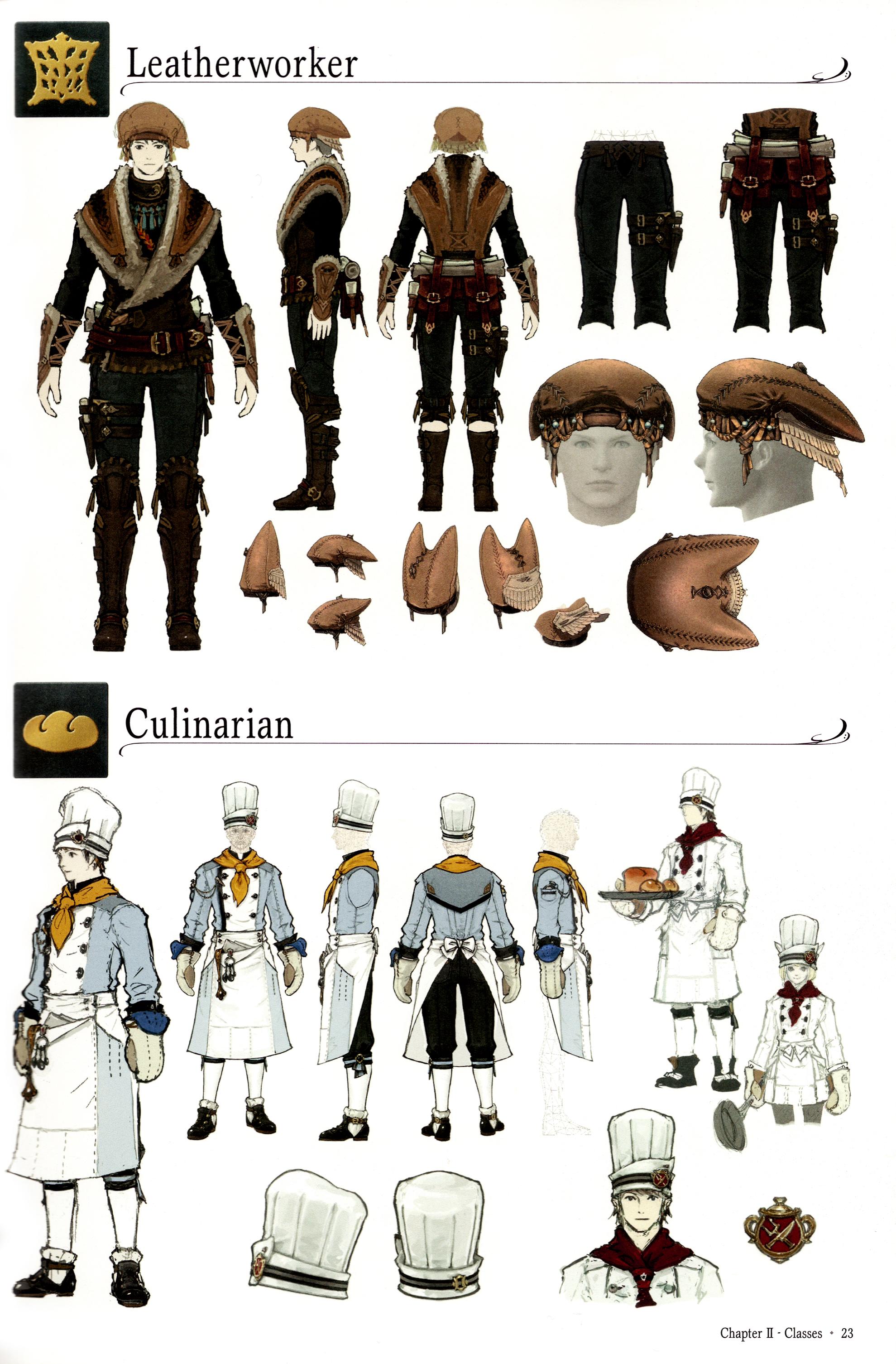 Final Fantasy Xiv Leatherworker Culinarian Classes Minitokyo