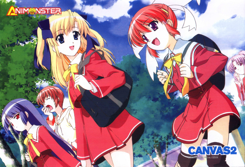 Canvas 2 Anime Characters : Canvas niji iro no sketch let s go to school minitokyo