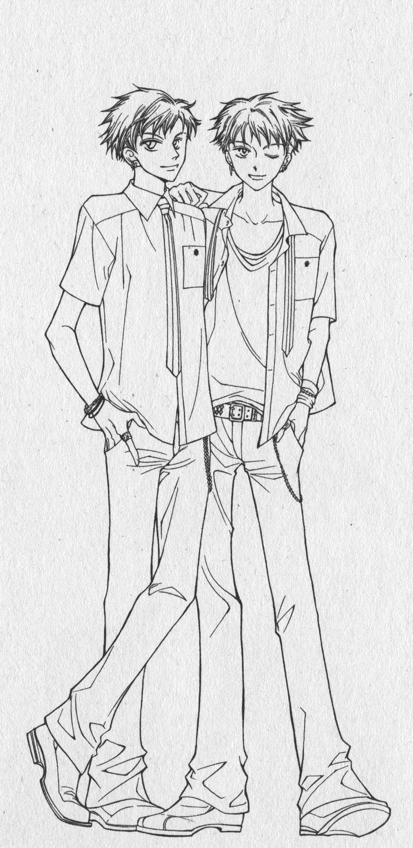ouran highschool coloring pages - photo#44