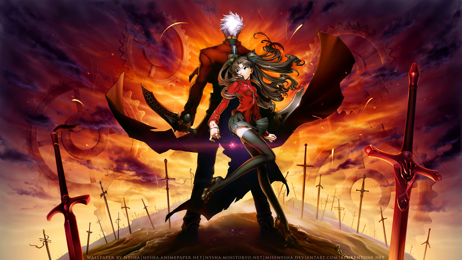 Fate Stay Night Wallpaper Their Fated Realm Minitokyo