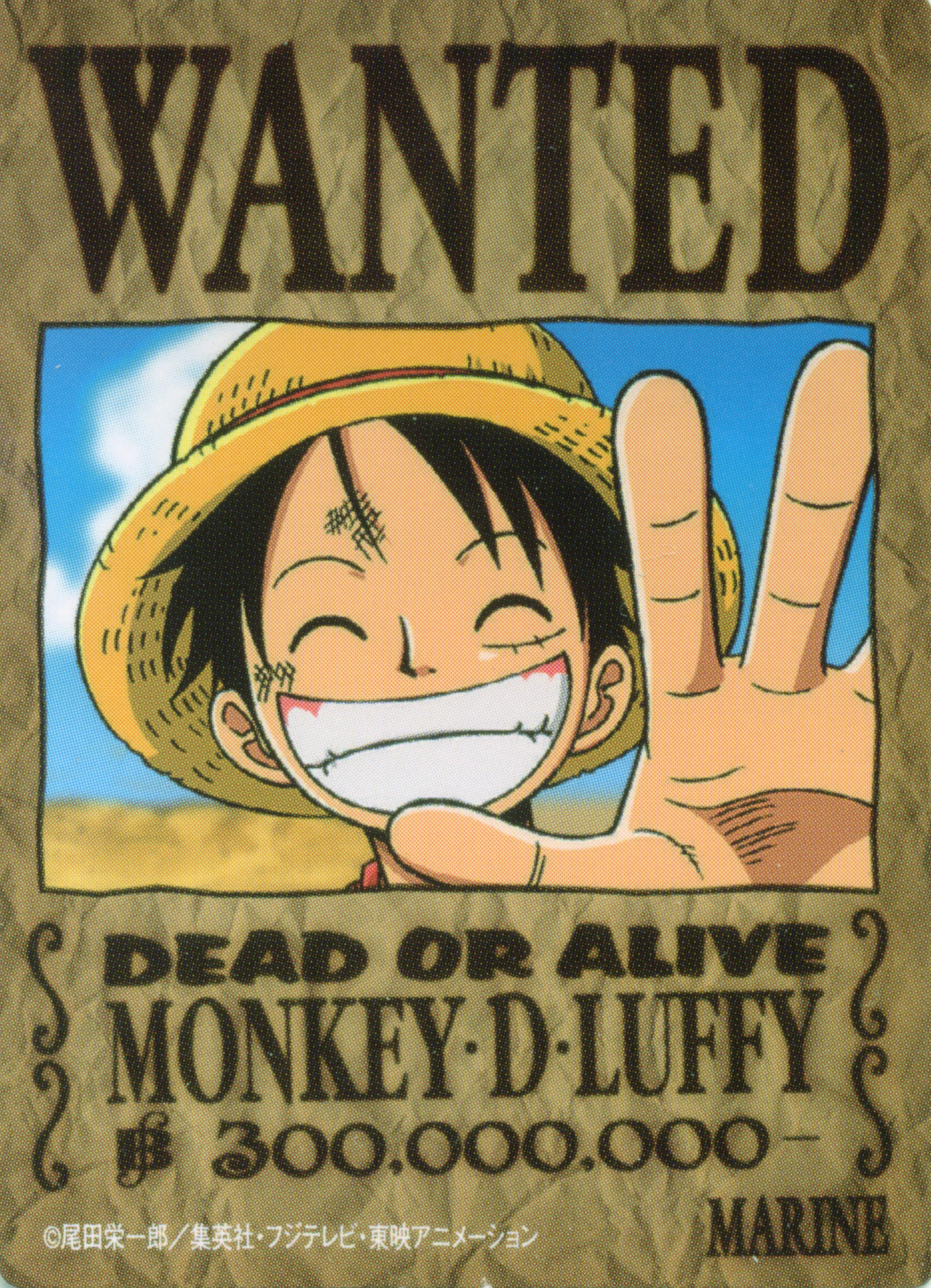One piece wanted monkey d luffy minitokyo - One piece wanted luffy ...