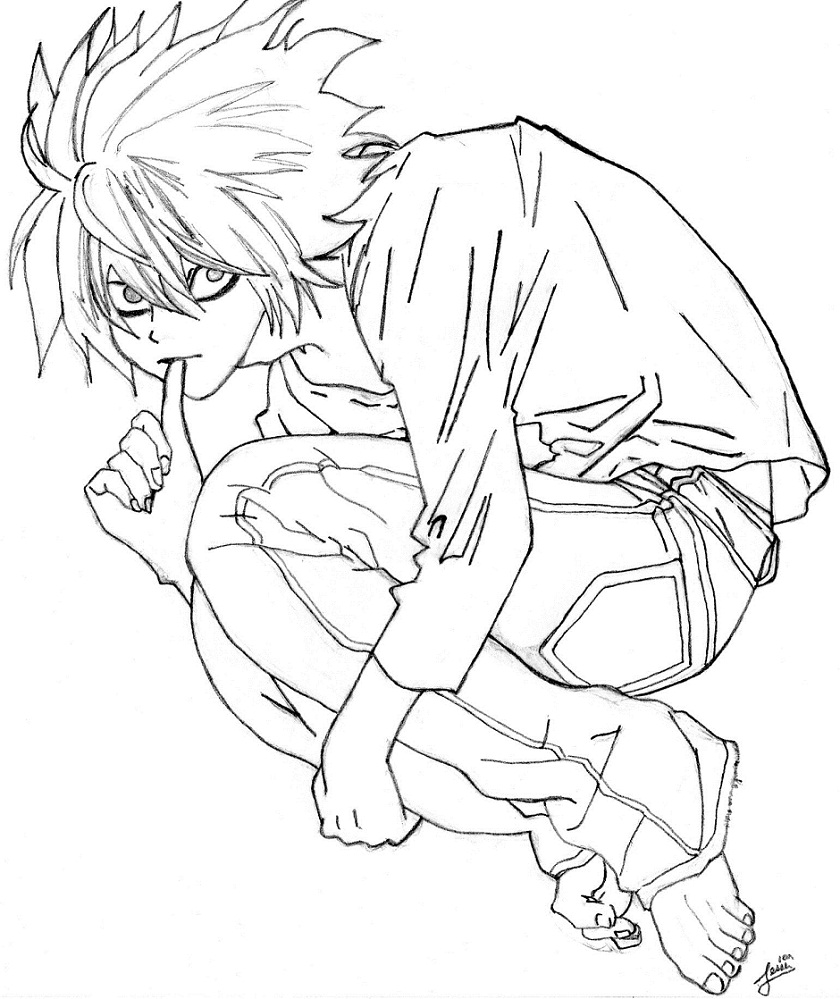 deathnote coloring pages - photo#23