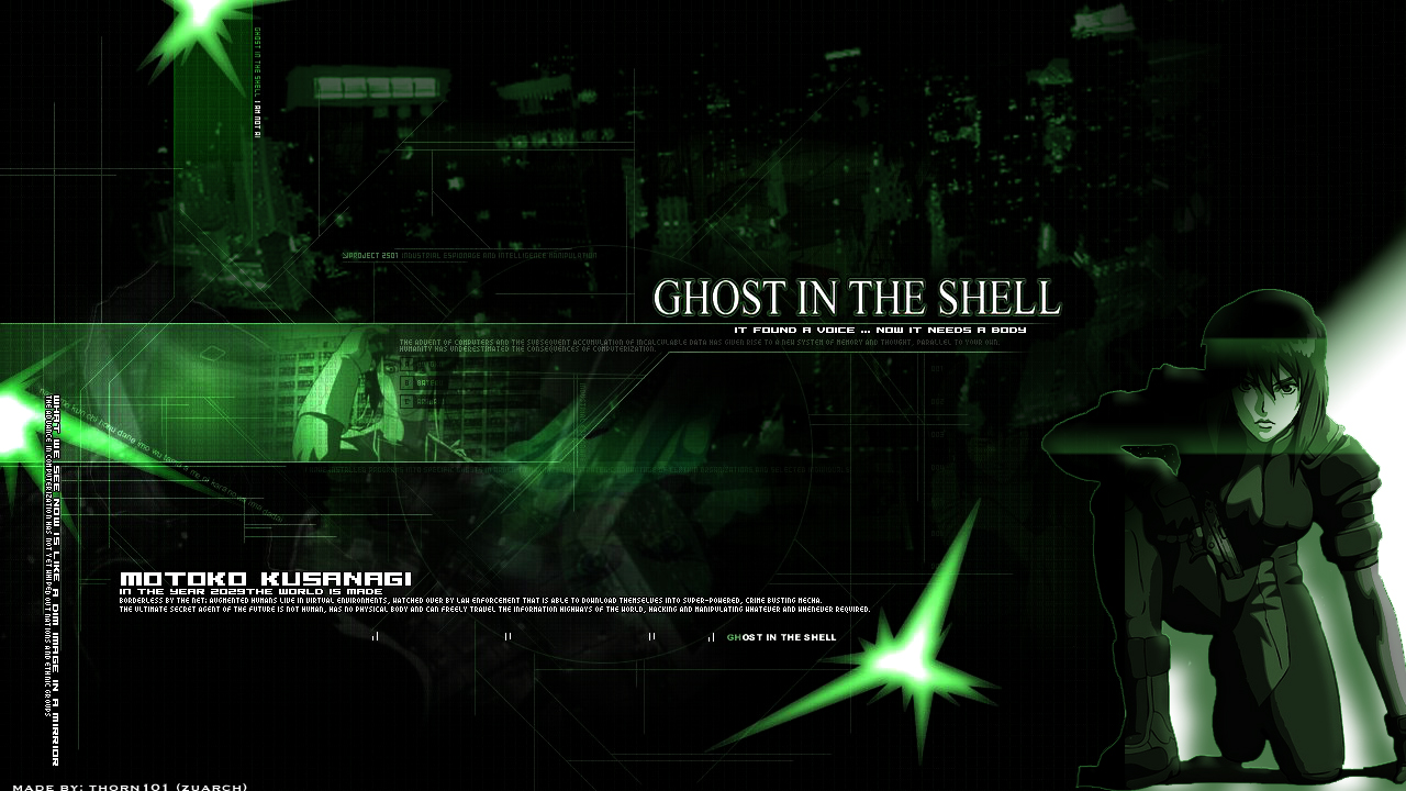 Ghost In The Shell Wallpaper And Scan Gallery Minitokyo