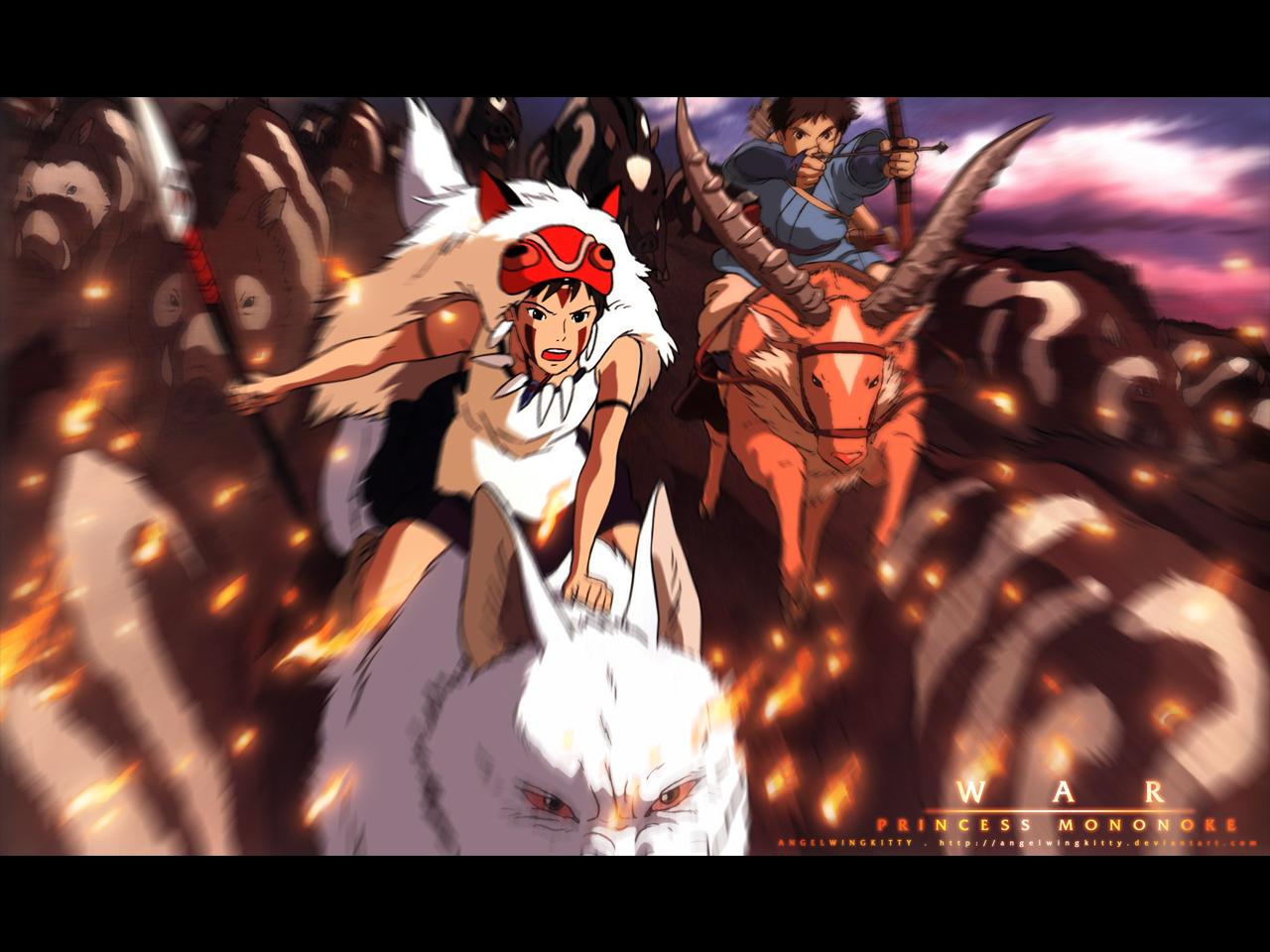 Princess Mononoke Wallpaper War Princess Mononoke Minitokyo