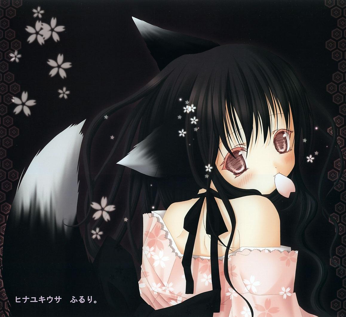 Черная девушка кошка аниме 9 фотография