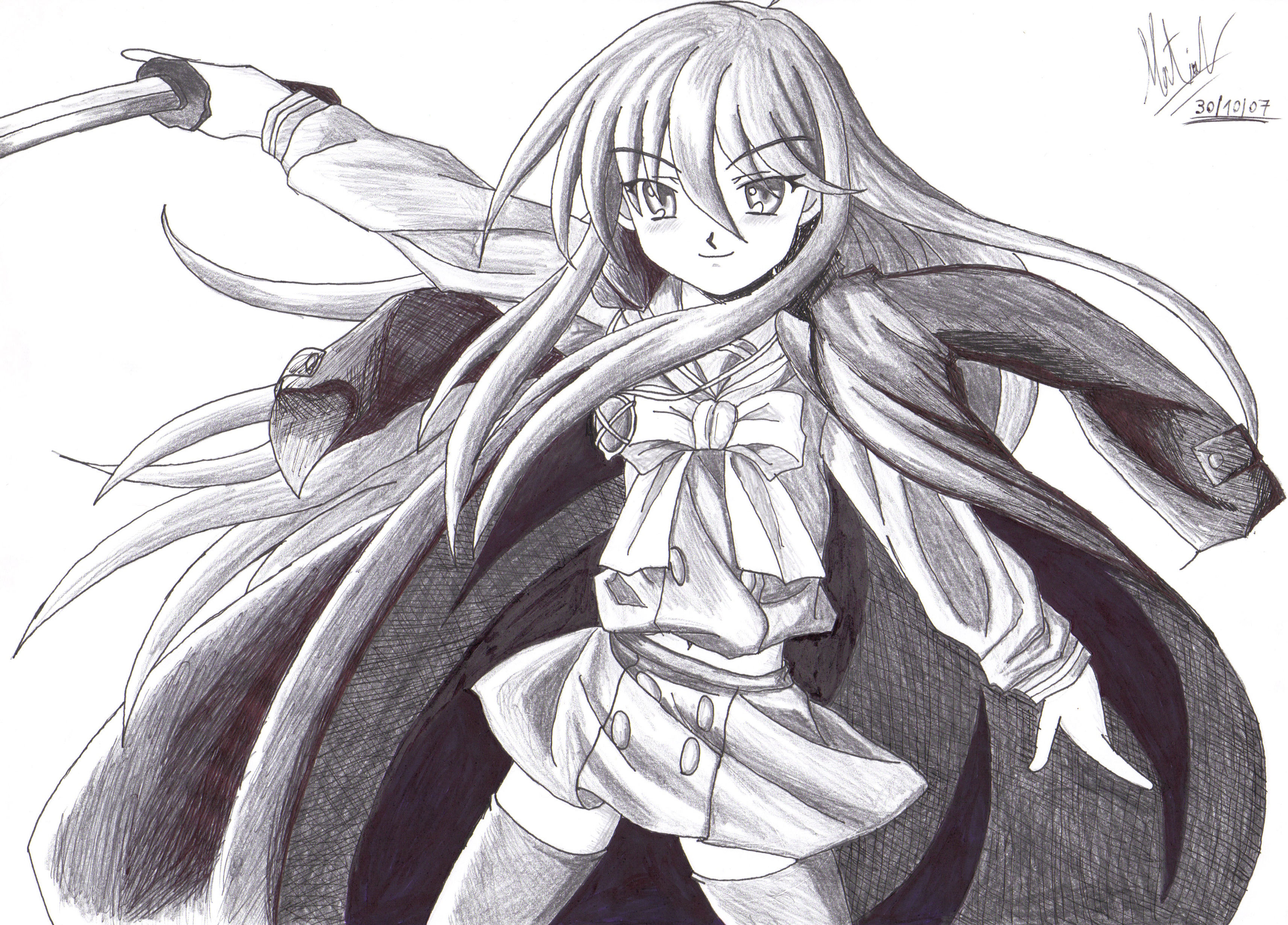 Shana Shakugan no Shana Drawing Shakugan no Shana Shana