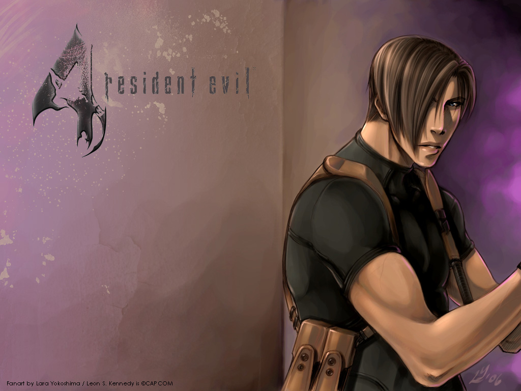 Resident Evil 4 Wallpaper Brilliant Magenta Feat Leon From Re4